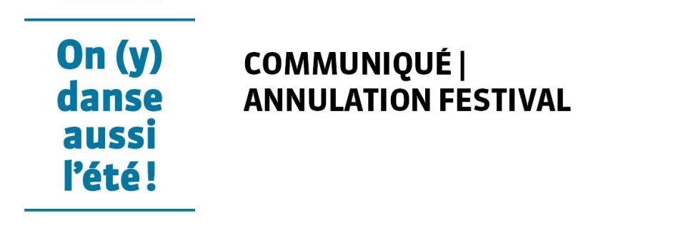 Communiqué annulation